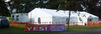 <b>2003:</b><br>First Tent Mission