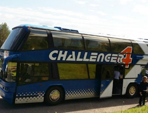 Challenger Bus Comes Home