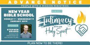 2019 New Year Bible School @ NCO Centre | Scotland | United Kingdom
